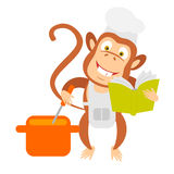 Cooking monkey Stock Photo