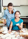 Cooking mother with adult daughter Royalty Free Stock Image