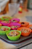 Cooking muffins Royalty Free Stock Photos