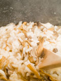 Cooking Mushroom Risotto Royalty Free Stock Photos