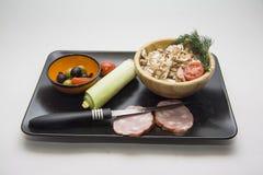 Cooking Mushroom salad Stock Image