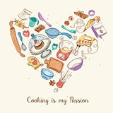 Cooking is my passion poster Stock Image