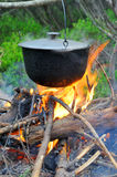 Cooking in the nature Stock Photo