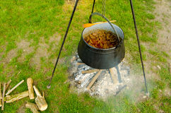 Cooking in the nature Stock Photography