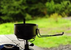 Cooking in nature Stock Images