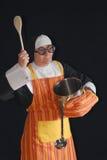Cooking nun Stock Photo