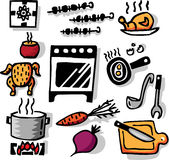 Cooking objects Stock Photography