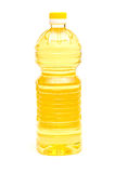 Cooking oil. Bottle on white background royalty free stock images
