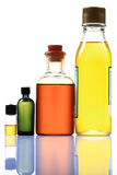 Cooking oil bottles. Isolated on white background Royalty Free Stock Photo