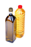 Cooking oil bottles Stock Images