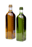 Olive oil. Bottles isolated over a white background Stock Image