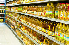 Cooking Oil Department Royalty Free Stock Images