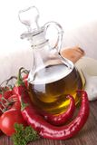 Cooking oil and ingredient Royalty Free Stock Photo