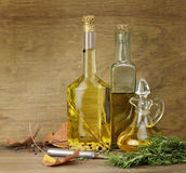 Cooking Oil And Spices Royalty Free Stock Photo