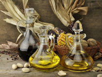 Cooking Oil And Vinegar Royalty Free Stock Images