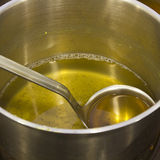 Cooking oil waste Stock Photography