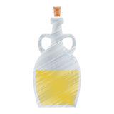 Cooking olive oil bottle cork handles drawing Stock Photos