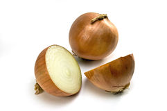 Cooking onions Royalty Free Stock Images
