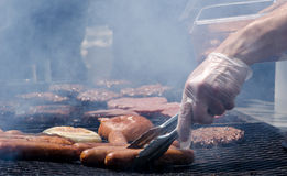 Cooking out on the grill, a taste of summer Stock Photography