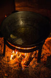 Cooking over a campfire Stock Photography