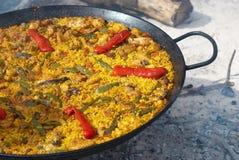 Cooking paella Stock Photo