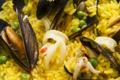 Cooking paella Stock Image