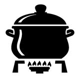 Cooking pan icon Royalty Free Stock Images