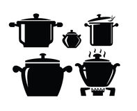 Cooking pan icon Stock Photo