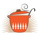 Cooking pan icon Royalty Free Stock Photography