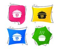 Cooking pan icons. Boil fifteen minutes. Vector vector illustration