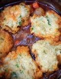Cooking parsley dumplings Stock Photos