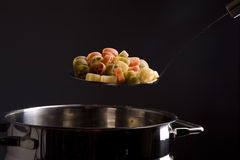 Cooking pasta Royalty Free Stock Photos