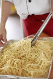 Cooking pasta Royalty Free Stock Photo