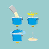 Cooking pasta icons set. Vector illustration Royalty Free Stock Images