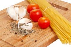Cooking pasta pesto Royalty Free Stock Photos