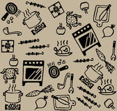 Cooking pattern Stock Photos