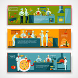 Cooking People Banner Set Royalty Free Stock Photo