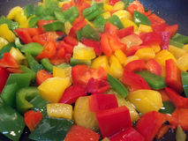 Cooking peppers Stock Photography