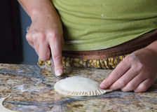 Cooking Pierogi Royalty Free Stock Photos