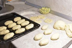Cooking pies. The homemade pies that can satisfy your hunger Stock Photography
