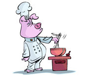 Cooking pig Stock Photo