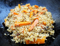 The cooking pilaf Royalty Free Stock Image