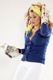 Cooking pin up girl Stock Photography