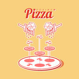 Cooking of pizza vector poster infographics Stock Photos