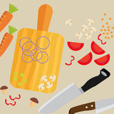 Cooking poster design. Vector illustration.  Royalty Free Stock Images