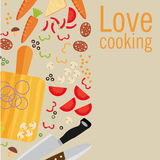 Cooking poster design. Vector illustration.  Stock Photography