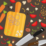 Cooking poster design. Vector illustration Stock Images