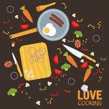 Cooking poster design. Vector illustration.  Royalty Free Stock Image