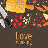 Cooking poster design. Vector illustration.  Stock Image