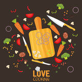 Cooking poster design. Vector illustration Royalty Free Stock Photography